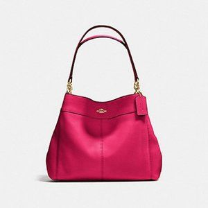 Coach Pink Lexy Pebble Leather Shoulder Bag